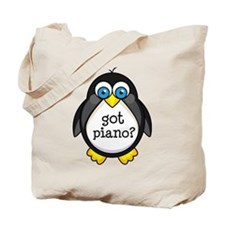 Piano Music Penguin Tote Bag