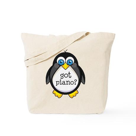 Piano Music Penguin Tote Bag