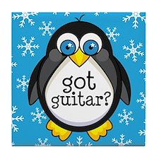 Guitar Music Penguin Tile Coaster