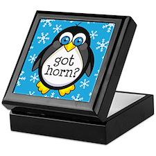 French Horn Music Penguin Keepsake Box