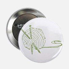 """Green outline yarn 2.25"""" Button"""