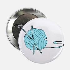 "Aqua Yarn 2.25"" Button"