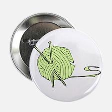 """Green Yarn 2.25"""" Button"""