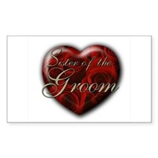 Sister of the Groom Rectangle Decal