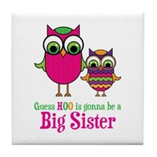 Guess Hoo Sister to be Tile Coaster