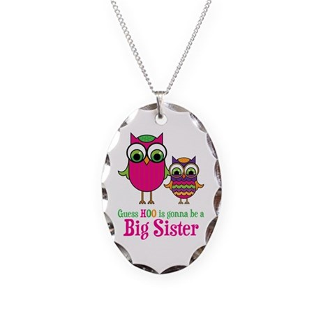 Guess Hoo Sister to be Necklace Oval Charm