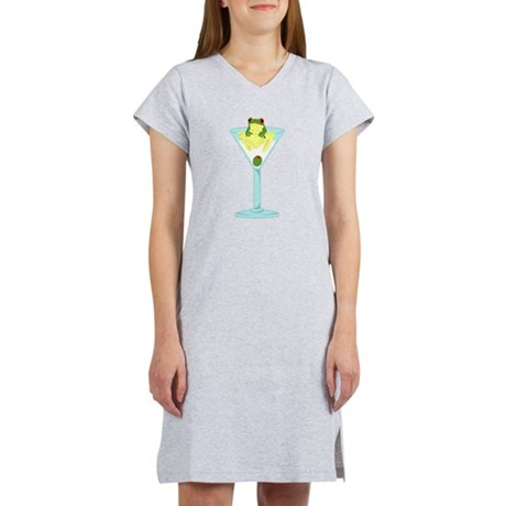 Frog & Olive in Martini Glass Women's Nightshirt