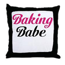 Baking Babe Throw Pillow