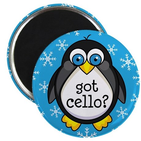 Cello Music Penguin Magnet