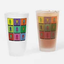 Color Bots Drinking Glass