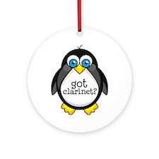 Clarinet Music Penguin Ornament (Round)