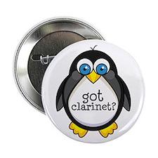 "Clarinet Music Penguin 2.25"" Button"