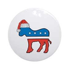 Unique Democrat logo Ornament (Round)