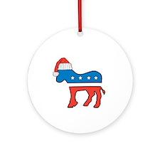 Cute Donkey logo Ornament (Round)