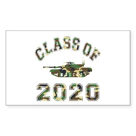 Class Of 2020 Military School Sticker (Rectangle)