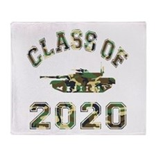 Class Of 2020 Military School Throw Blanket
