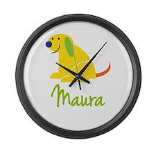 Maura Loves Puppies Large Wall Clock