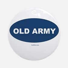 Old Army Dad Ornament (Round)