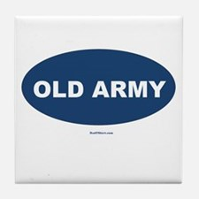 Old Army Dad Tile Coaster