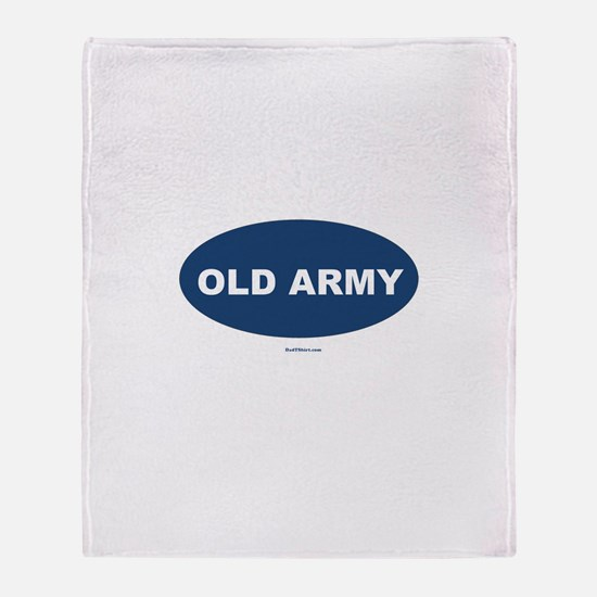 Old Army Dad Throw Blanket