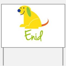 Enid Loves Puppies Yard Sign