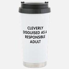 Cleverly Disguised Stainless Steel Travel Mug