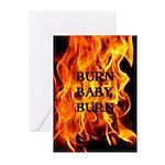 BURN, BABY, BURN™ Greeting Cards (Pk of 20)