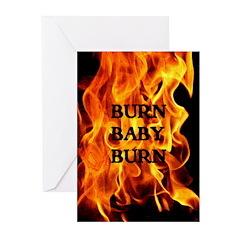 BURN, BABY, BURN™ Greeting Cards (Pk of 10)