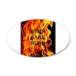 BURN, BABY, BURN™ 38.5 x 24.5 Oval Wall Peel