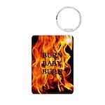 BURN, BABY, BURN™ Aluminum Photo Keychain
