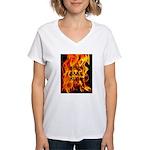 BURN, BABY, BURN™ Women's V-Neck T-Shirt