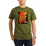 BURN, BABY, BURN™ Organic Men's T-Shirt (dark)