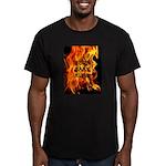 BURN, BABY, BURN™ Men's Fitted T-Shirt (dark)
