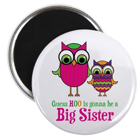 """Guess Hoo Sister to be 2.25"""" Magnet (10 pack)"""