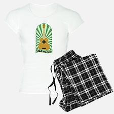 Green Sunburst Ukulele Pajamas