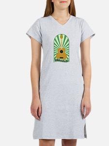 Green Sunburst Ukulele Women's Nightshirt