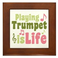 Playing Trumpet is Life Framed Tile