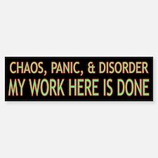 Chaos Bumper Bumper Sticker