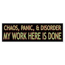 Chaos Bumper Sticker