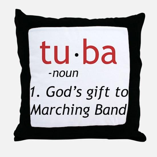Tuba Definition Throw Pillow