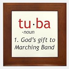 Tuba Definition Framed Tile