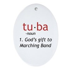 Tuba Definition Ornament (Oval)