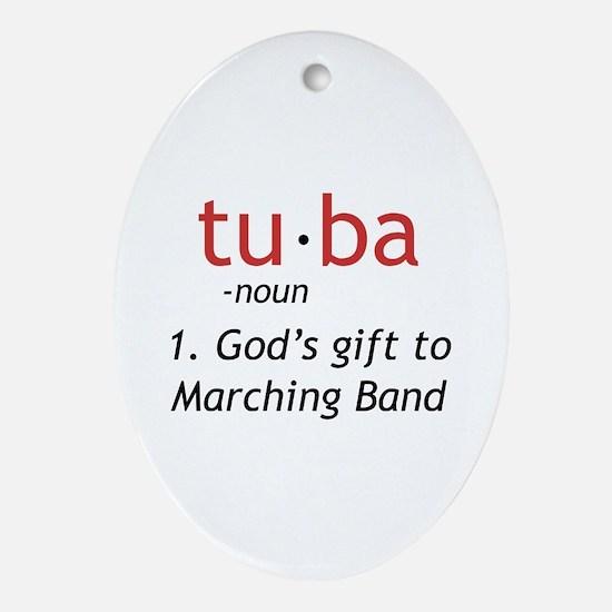 Tuba Definition Ornament (Oval)