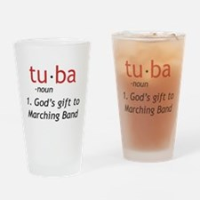Tuba Definition Drinking Glass