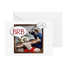"""BRB Jesus"" Greeting Cards (Pk of 10)"