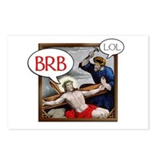 """BRB Jesus"" Postcards (Package of 8)"