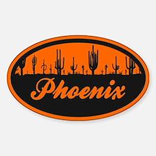 Phoenix AZ Flag Sticker (Oval)