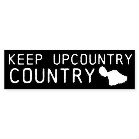 Keep Upcountry Country (black)