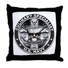 USN Culinary Specialist CS Sk Throw Pillow