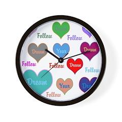 OYOOS Follow Your Dream Heart Wall Clock